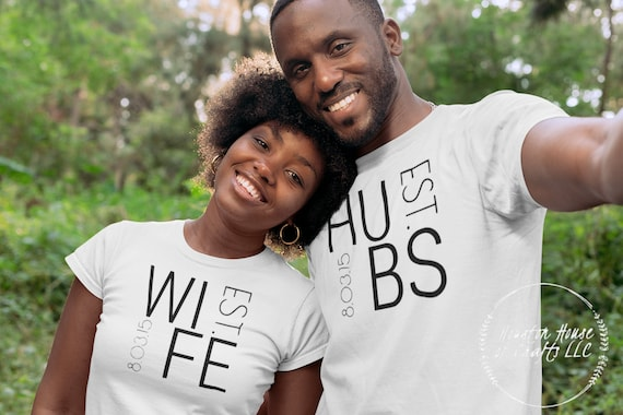 Hubs and Wife couples shirts-couple shirts-wedding shirts-couple t shirts-engagement shirts-anniversary shirts- shirts for couples