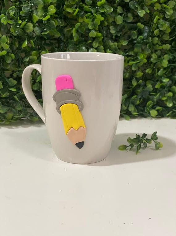 Pencil Mug, Back to School Mug, Teacher Mug,  Pencil Cup, Back to School Cup, Teacher Cup, School Supplies,Teacher Appreciation