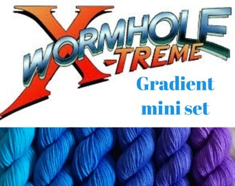 Wormhole X-treme 10g mini set Oxley base 80 merino 20 nylon fingering weight