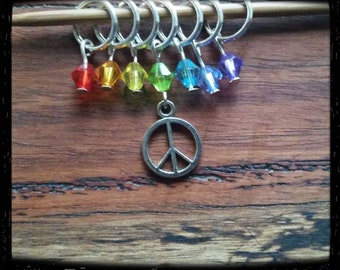 Peace stitch markers