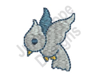 Blue Bird - Machine Embroidery Design