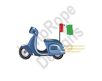 Italian Scooter - Machine Embroidery Design