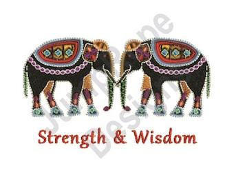 Strength And Wisdom - Machine Embroidery Design