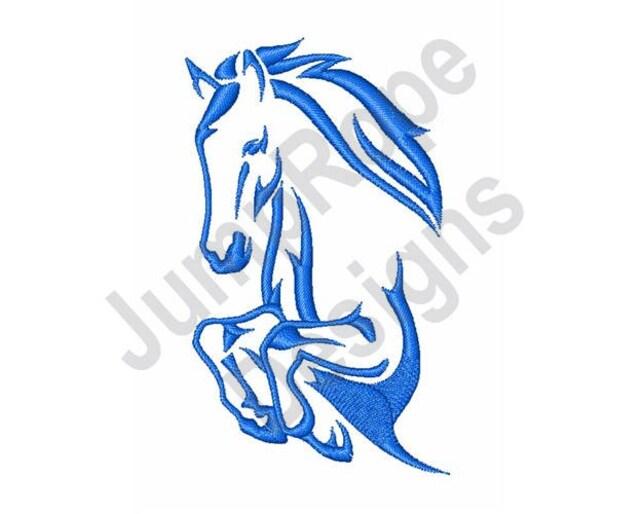 Pferdekopf Maschine Stickerei-Design | Etsy