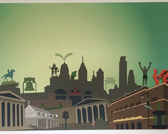 Print of Philadelphia: PHILLY PHILLY!