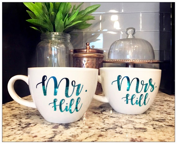 Wedding Gift for Couple, Mr and Mrs Mugs, His and Hers Mugs, Wedding Gift for Her, Wedding Gift, Engagement Gift, Mindfulness Gift, Wedding