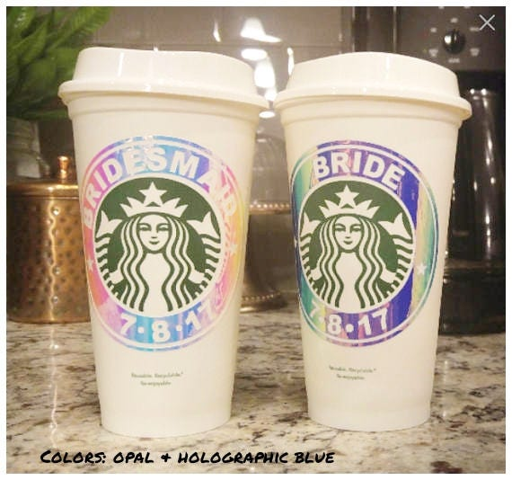Personalized Starbucks Cups Personalized Tumbler Bridal Shower Gift Bride and Groom Gift Starbucks Tumbler Coffee Cup With Lid