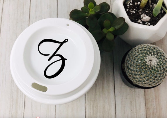 Personalized Starbucks Lid Decal Monogrammed Lid Decal Unique Gift Starbucks Lid Personalized Gift Custom Tumbler Lid Coffee Lover Gift