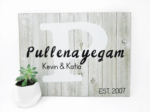 Personalized Wooden Sign Light Gray Wood Plaque Housewarming Gift Custom Wood Sign Bride and Groom Gift Rustic Wood Sign Farmhouse Decor