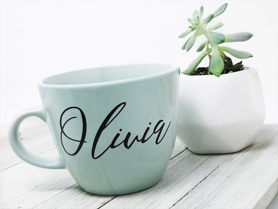 Personalized Coffee Mug Custom Name Mug Coffee Lover Gift Personalized Gift Ceramic Mug Office Mug Gift For Her Bridal Party Gift