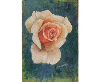 White Rose - Archival Print from an Original Watercolor Painting