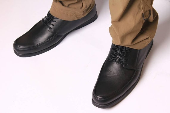 b9b8767070644 Genuine Leather Black Shoes for Casual Boston Galia, Black Sneakers,  Sneakers Leather, Men's Shoes, Men's Sneakers, Leather Shoes for Man
