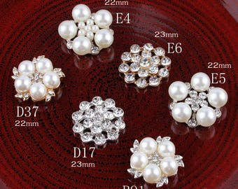 Bling Metal Rhinestone Pearl Buttons for Flower Center Decorative Flatback  Crystal Flower Beads for Hair Accessories a6fa5b2b714e