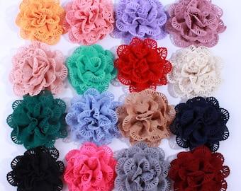 10CM Wholesale Supply Chiffon Fabric Ballerina Flowers For Garment Hair Accessories