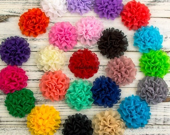 Free Shipping Vintage Burned Edge Chiffon Flowers Hair Accessories Artificial Fabric Flowers For Headbands Diy Supplies Material Flower 10CM