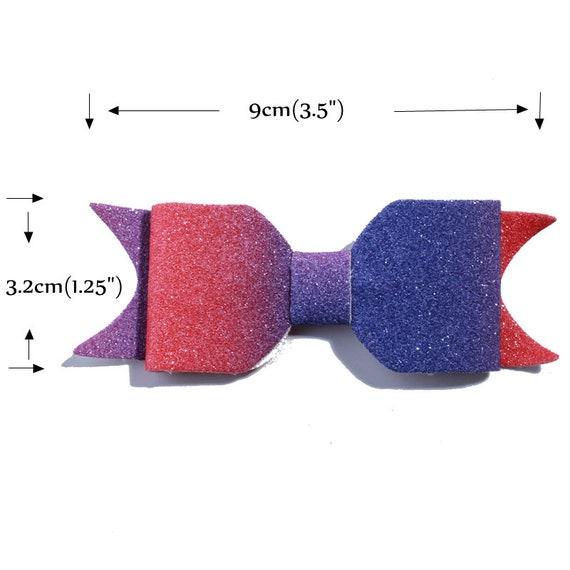 30PCS 7.2CM Fashion Grosgrain Hair Bows With Fish scale For Hair Accessories