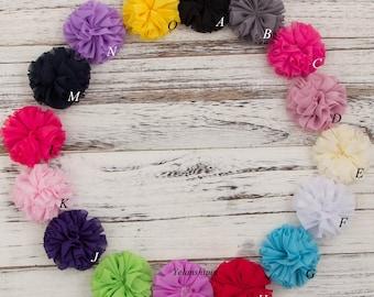 Fluffy Ballerina Chiffon Flower For Baby Girls Hair Accessories Artificial Fabric Flowers For Headbands Diy Supplies 6.5cm
