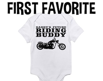 f815599f Daddy Motorcycle Baby Onesie Bodysuit Shirt Dad Father Pregnancy  Announcement Shower Gift Take Home Biker Infant Newborn Clothes Organic
