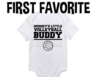 e3049da91 Mommy Little Volleyball Buddy Baby Onesie Bodysuit Shirt Mom Mother Shower  Gift Take Home Infant Newborn Clothes Outfit Organic Sports