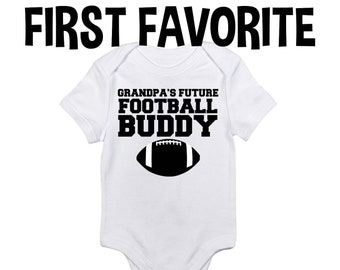 0866f2850 Grandpa Future Football Buddy Baby Onesie Bodysuit Shirt Shower Gift  Pregnancy Announcement Grandfather Infant Newborn Clothes Outfit Sports