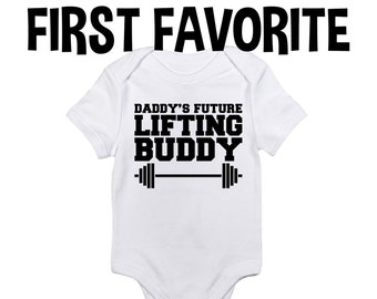 Lifting Buddy Baby Workout Baby Clothes Crossfit Baby WeightLifting Baby Workout Buddy Baby