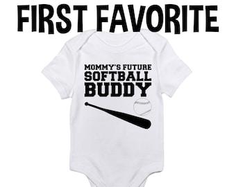 Softball Baseball League Infant Baby Shower Onesie Unisex Girl Daughter