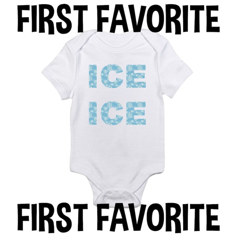 c15684866 Ice Ice Baby Onesie Bodysuit Shirt Shower Gift Take Home | Etsy