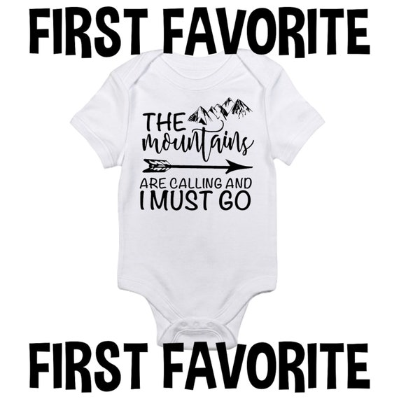 Mountains Are Calling Baby Onesie Shirt Travel Newborn Infant Clothes Gerber