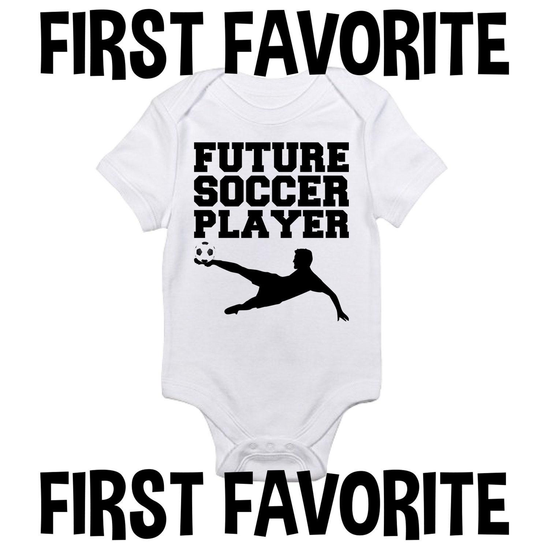 b0fb60b0b3f99 Future Soccer Player Baby Onesie Bodysuit Shirt Pregnancy | Etsy