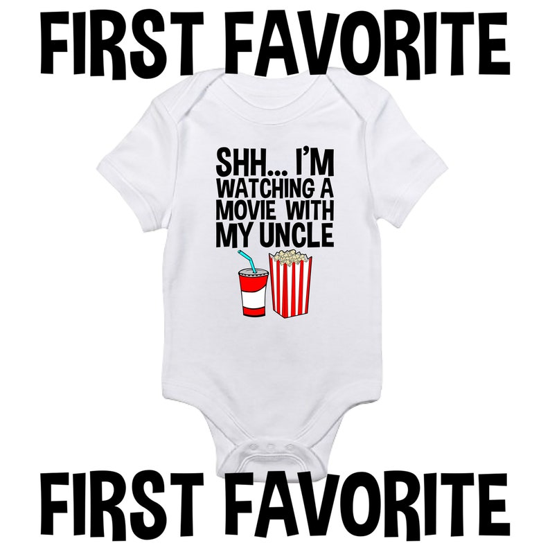 I/'m Watching A Movie With My Uncle Baby Onesie