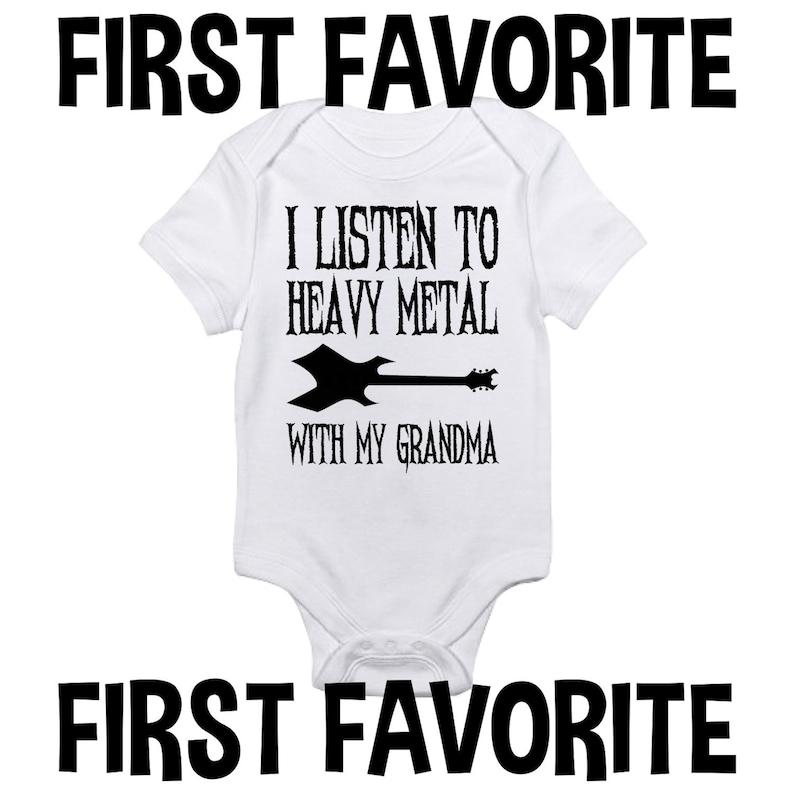 9e9f8115e Grandma Heavy Metal Baby Onesie Bodysuit Shirt Grandmother | Etsy