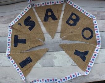 Bunting - baby shower bunting - baby shower - baby shower banner - it's a boy - it's a girl - baby shower decorations - nursery bunting
