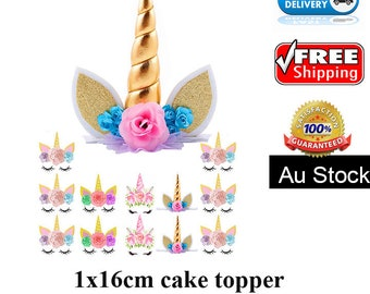13 pieces Unicorn theme cupcake toppers edible image wafer Boy Girl celebrations gifts Cookie Cake decorations first Born