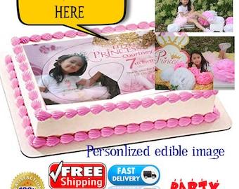Personalised Rectangular Cake toppers edible image wafer Birthday celebrations wedding gift Hens Custom Photo Image Custom Made Reunion