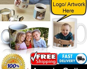 Personalised White Coffee Mug Gift Ideas, Custom Product, Sports, Logo, Artwork, Christmas Gift Free Shipping