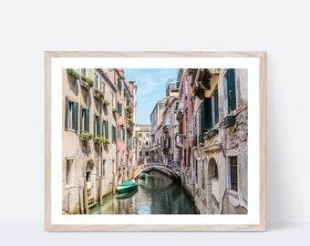 16x20 Venice Italy Canal Watercolor Wall Art 8x10 18x24 11x14 Digital Download Gondola Print Photography Painting Italian Artwork 5x7