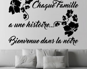 """Decal Decoration """"every family has a story"""""""