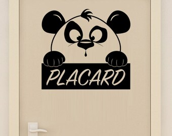 Sticker wall decor cute Panda closet