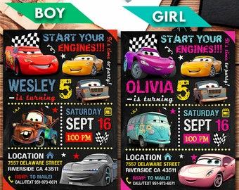 Disney Cars Printable Invitation