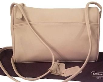 f0c4c871daf2 TN-O ! Coach sac à bandoulière en cuir Vintage Zip Slim OS + Made in USA !