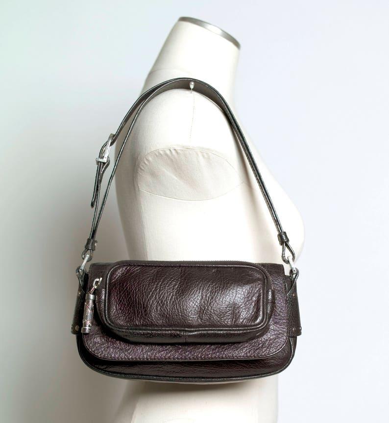 0de515a9083 MINT Versace Motorcycle East West Zip Bag Black Leather | Etsy