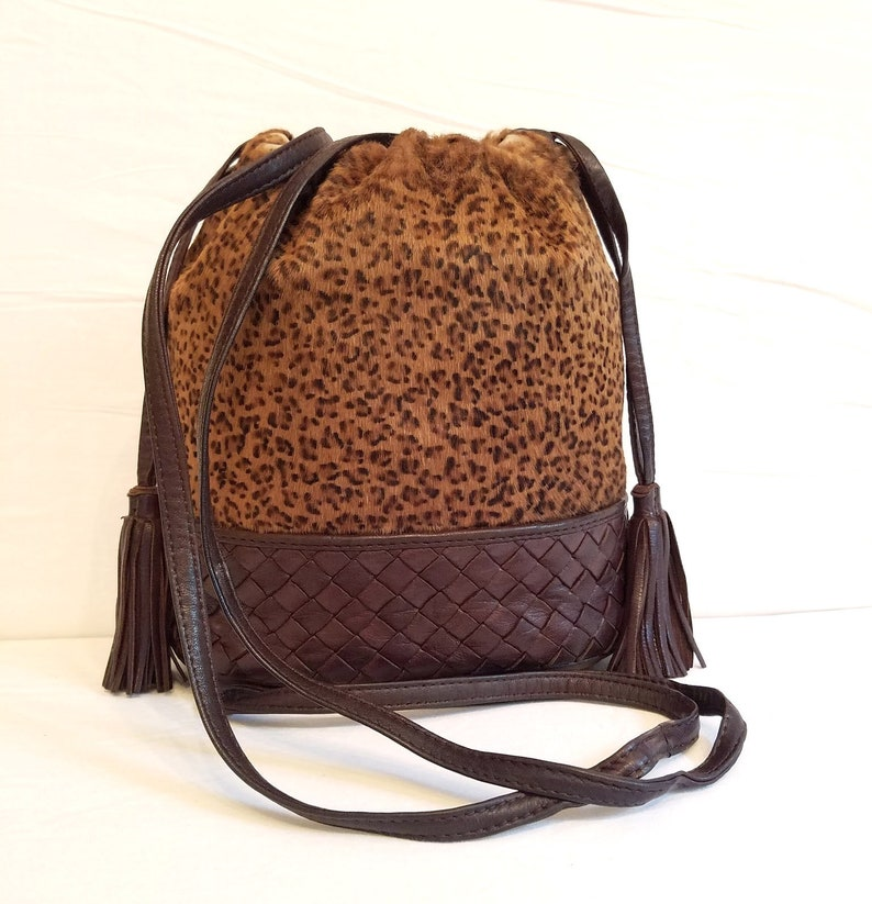 9080f9d91e RARE Bottega Veneta Intrecciato Leather Leopard fur