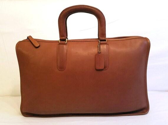 HUGE! Coach Bonnie Cashin Briefcase British Tan Le