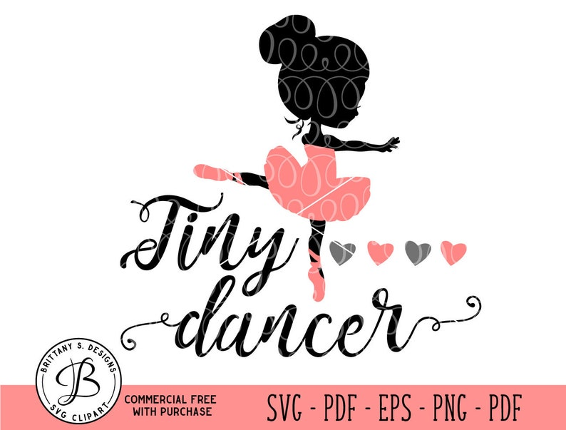 Tiny Dancer SVG Ballet SVG Ballerina svg ballet cut file image 0