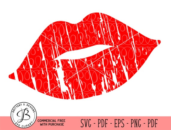 Lips Svg Lips Silhouette Svg Lip Cut Files Lip Clipart Red Etsy
