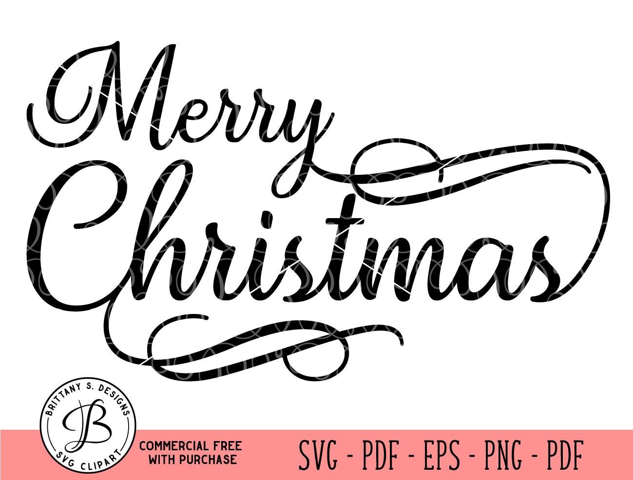 Frohe Weihnachten SVG Weihnachts SVG Schrift Svg Skript | Etsy