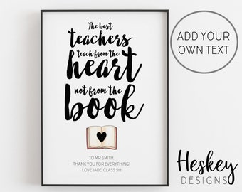 Teacher gift personalised gifts for teachers teacher | Etsy