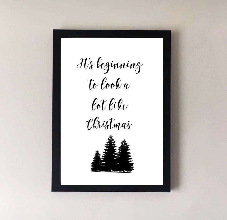 Christmas print It\'s beginning to look a lot like | Etsy