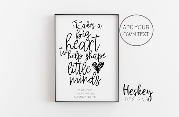 Personalised Teaching Assistant Thank You Gifts for TA Nursery Teacher Gifts