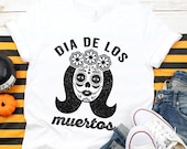 Day Of The Dead Shirt - Dia De Los Muertos - Sugar Skull - Mexican - Mexico - Halloween Costume - Women 39 s Halloween - Unisex Graphic Tee